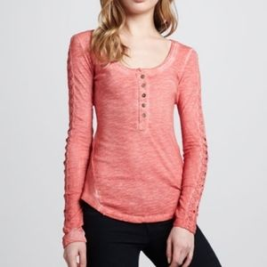 Free People Shell Stitch Henley Top